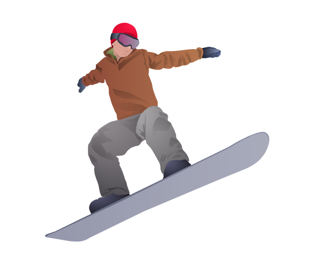 image of a person snowboarding