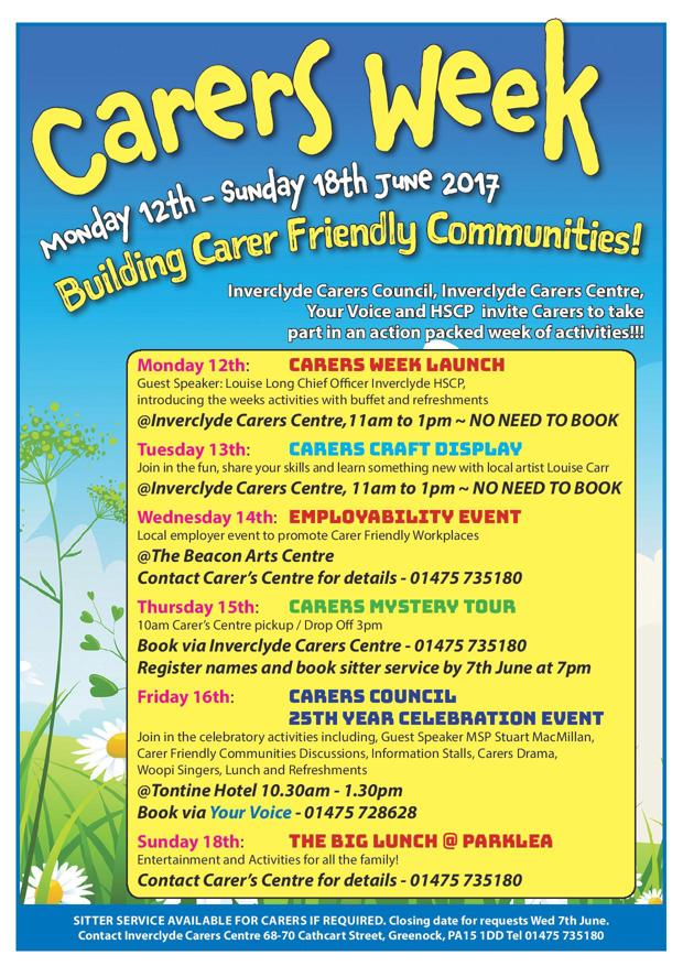 Carers week flyer