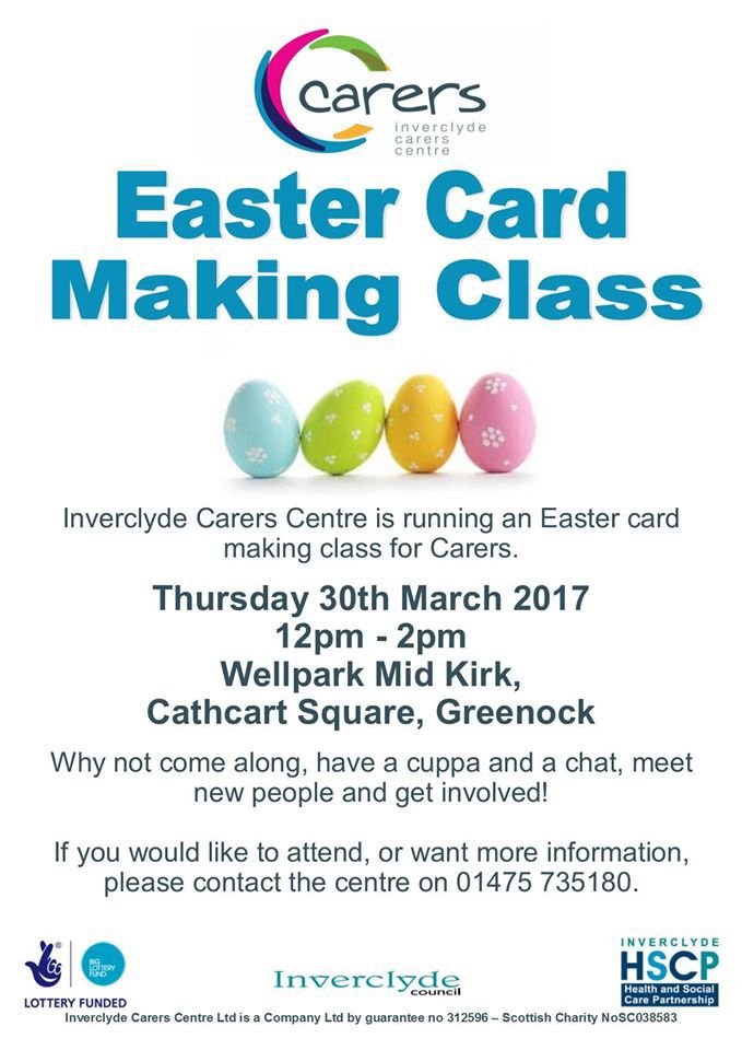 Easter card making flyer