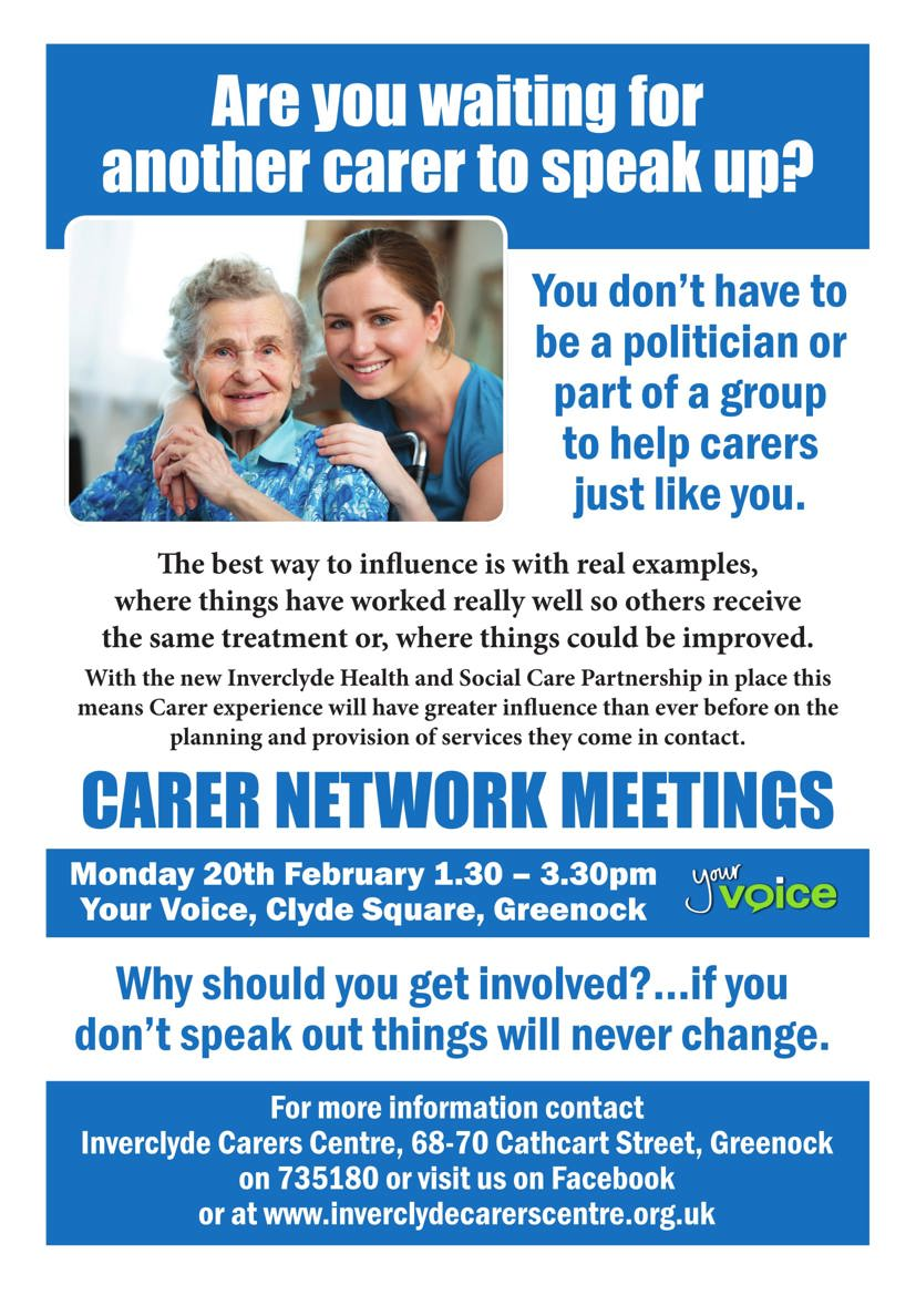 Carers network poster
