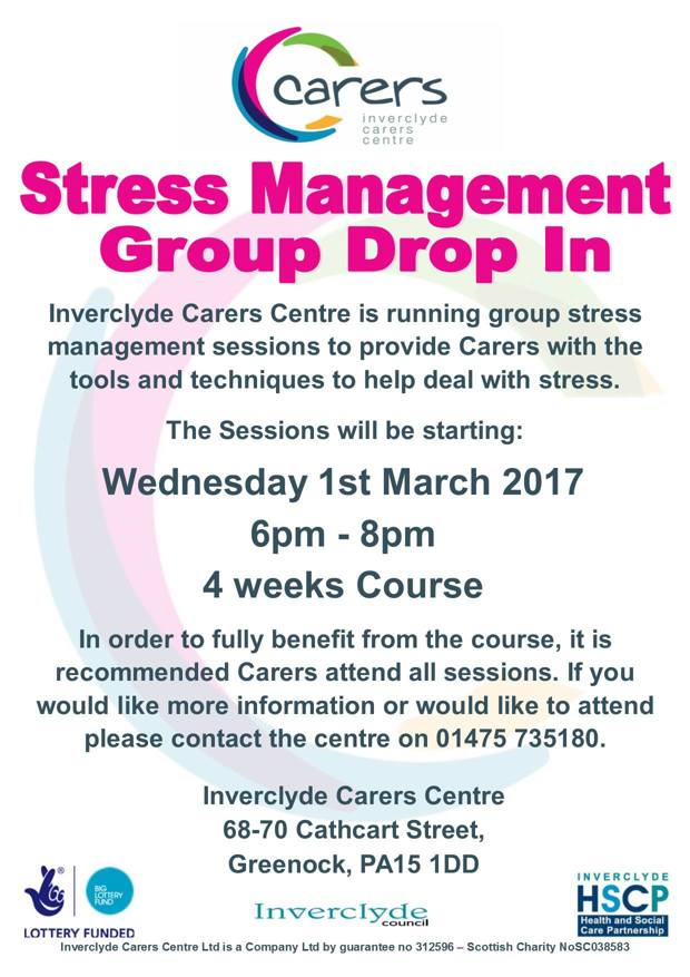 Group stress management flyer