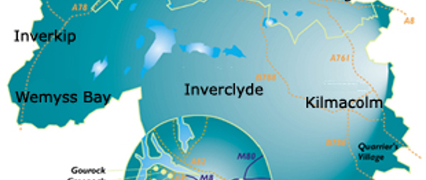 image of a map of inverclyde