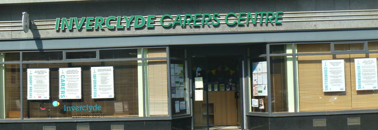 Front of Inverclyde Carers Centre building