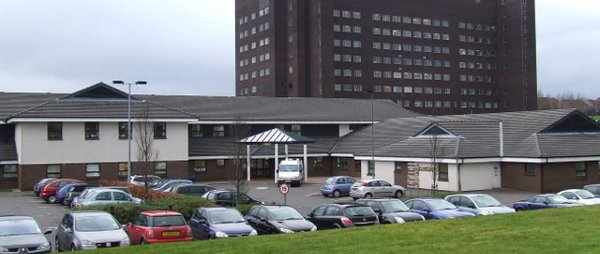 image taken from the street of the larkfield unit at the inverclyde royal hospital
