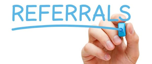 referrals sign